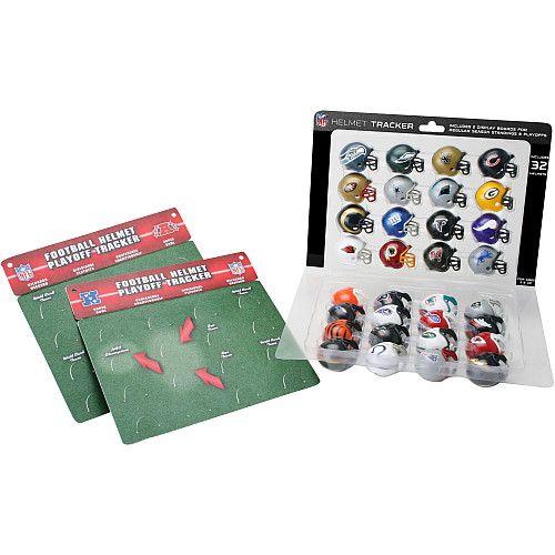 NFL Football 32 Team Helmet Standings Playoff Tracker Helmet Display
