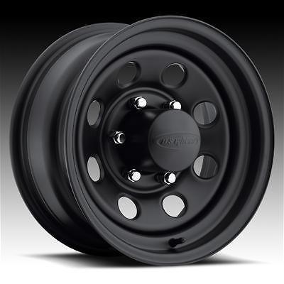 044 Series Stealth Crawler Black Steel Wheels 15x14 5x5 BC Set of 2