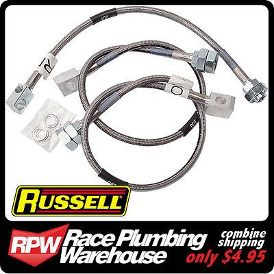 RUSSELL 1973 78 GMC CHEVY C 10 C 20 TRUCK STAINLESS BRAIDED BRAKE LINE