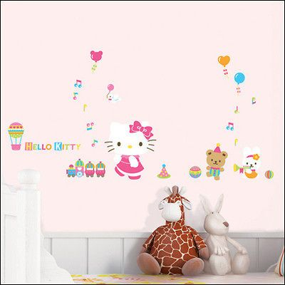 Newly listed HELLO KITTY & GARDEN KIDS Adhesive Removable Wall Decor