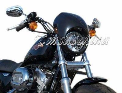 Black Headlight Fairing for Harley Front Fork Mount Sportster Dyna FX