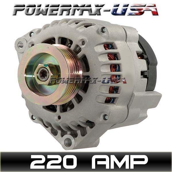 HIGH OUTPUT 220AMP ALTERNATOR S10 BLAZER JIMMY SONOMA BRAVADA 4.3L V6