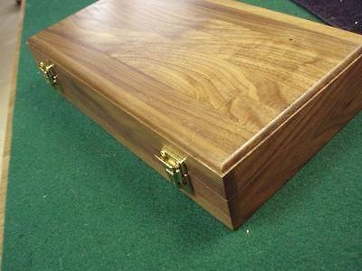 PISTOL GUN PRESENTATION CASE WOOD BOX COLT ANACONDA PYTHON WITH LONG 8