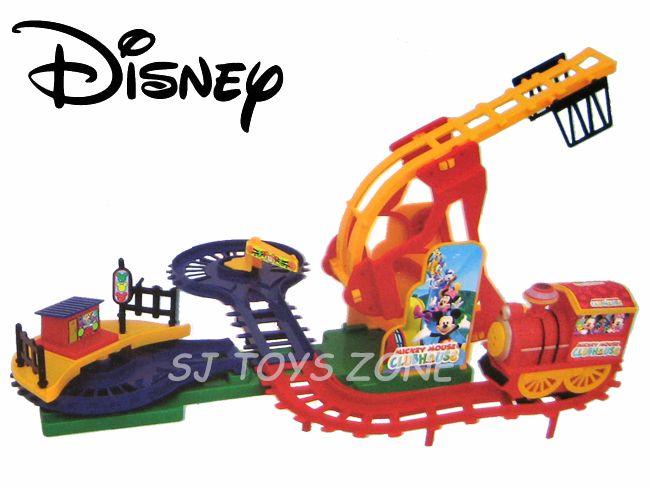 Disney Mickey Mouse Club House Train Set with Track/Rail, Choo Sound