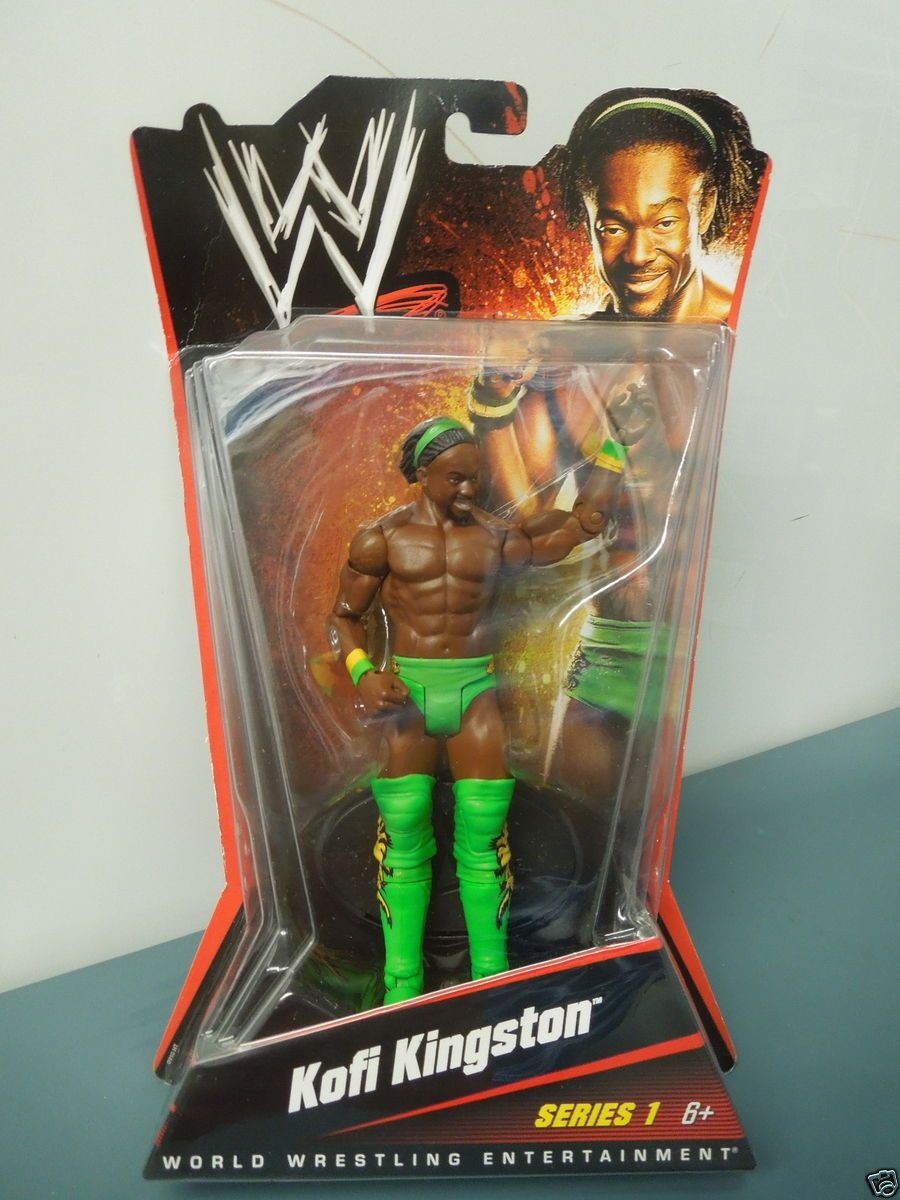 WWE WWF Wrestling Kofi Kingston Series 1 Action Figure NIP Mattel