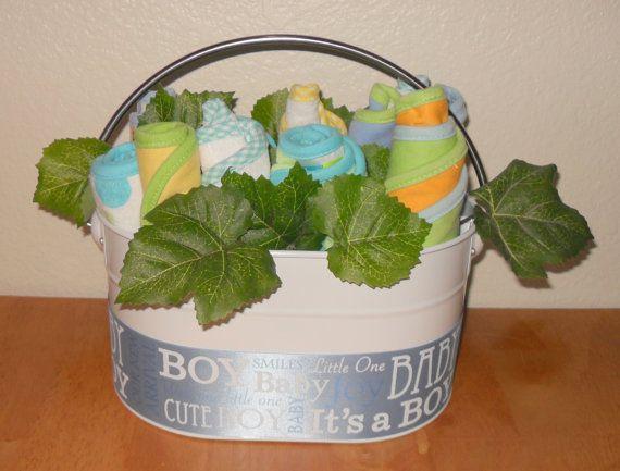 Baby Boy Flower Basket Wonderful Baby Shower Gift