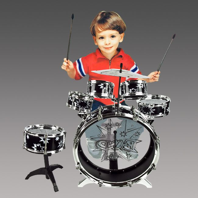 Set Boy Girl Musical Instrument Toy Black Music Band Children