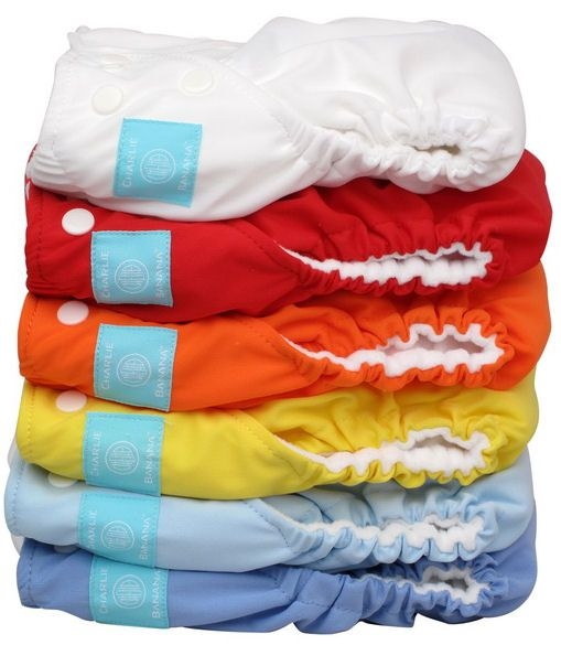 Banana 2 in 1 Unisex One Size Reusable Baby Cloth Diaper Hot 6 Pack