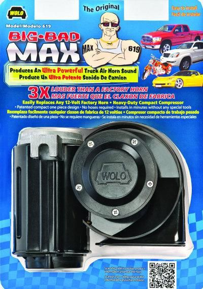 Wolo Big Bad Max Motorcycle Air Horn for Honda Goldwing GL1800 GL1500