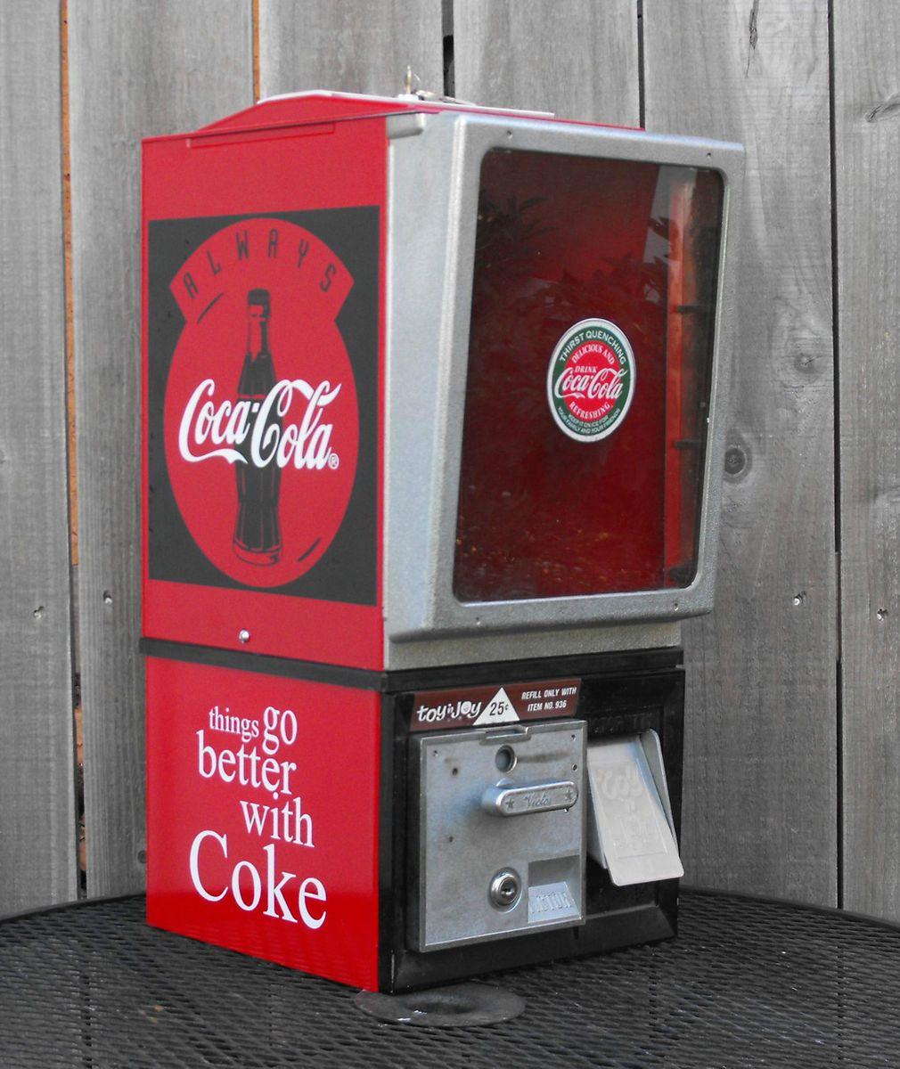 Toy N Joy Machine : Vintage toy n joy victor gumball vending machine in a