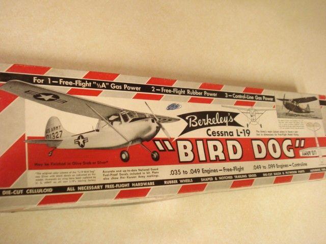 BERKELEY *CESSNA L 19 BIRD DOG* CONTROL LINE MODEL AIRPLANE KIT*