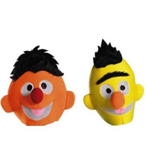 Sesame Street Bert Ernie Adult Head Couple Costume