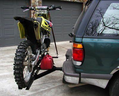 Dirt Bike Motorcycle Carrier Trailer Hauler Hitch Rack