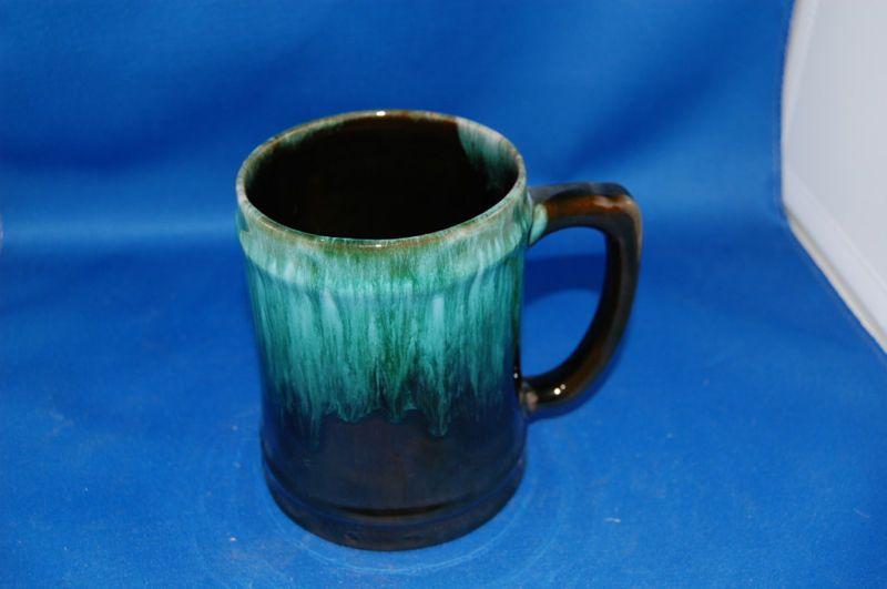 Vintage Blue Mountain Pottery Mug Green Glaze Stein