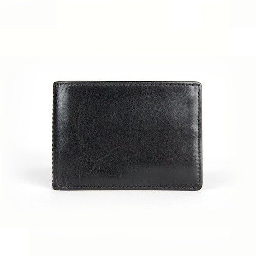 Bosca Old Leather Collection Black Small Bifold Wallet