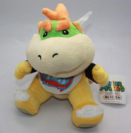 Super Mario Bros Bowser Jr Soft Stuffed Plush Doll Toy 7 inch Koopa