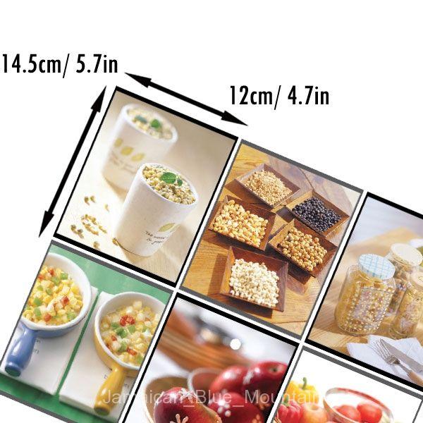 Breakfast Food PVC Wall Kitchen Cabinet Glass Doors Sticker Decal