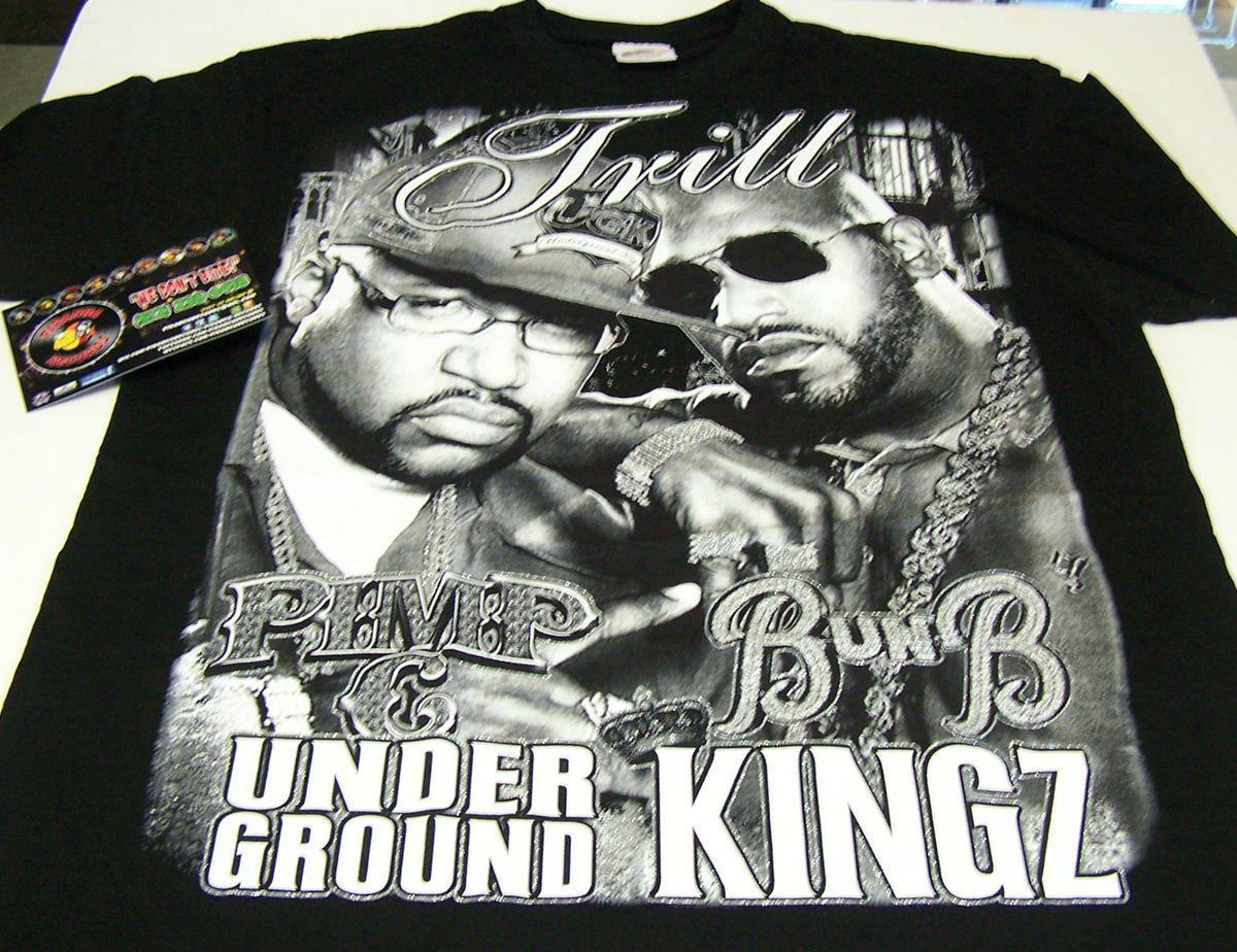 UGK Pimp C Bun B Underground Kingz Trill Texas Rap Shirt Piranha