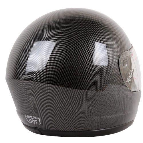 Carbon Fiber Look Full Face Motorcycle Helmet Size XL