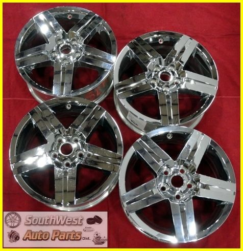 07 08 09 10 Chevy Equinox 17 Chrome Clad Wheels Used Factory Rims Set