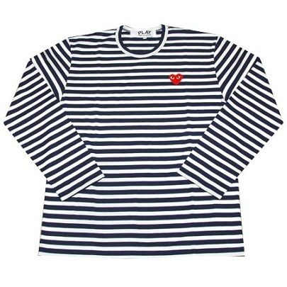 Comme Des Garcons CDG Play Long Shirt White Sz L XL