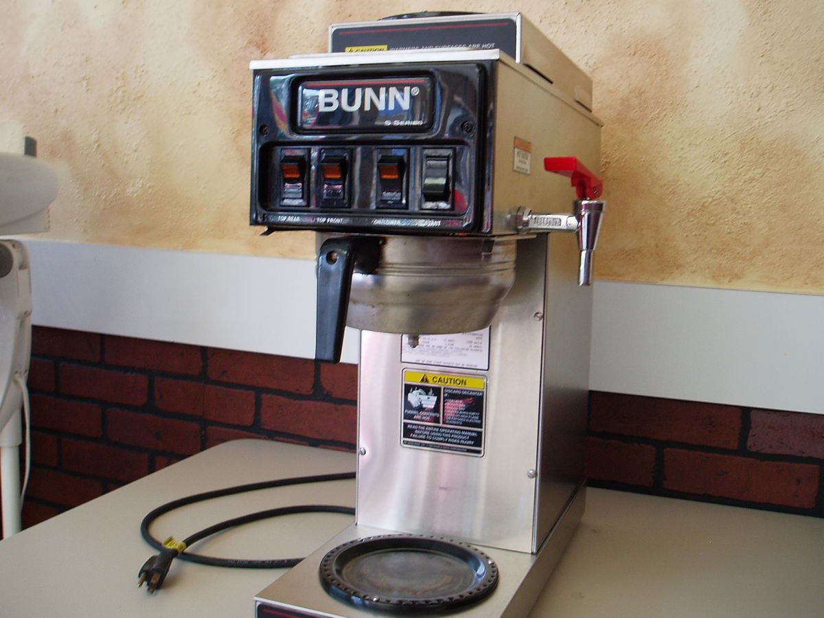bunn 3 burner commercial coffee maker stf 15