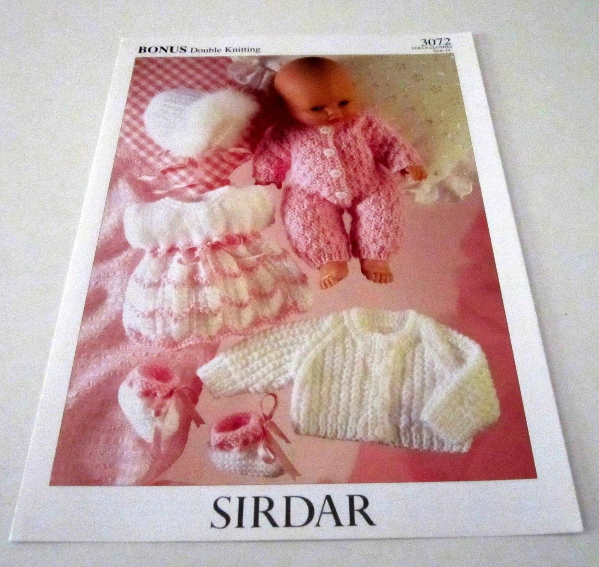 Knitting Pattern Doll Booties : SIRDAR 14 inch DOLL Dress Booties Bonnet Jacket knitting pattern