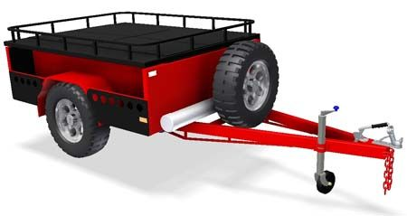 DIY Off Road camper Tandem Box Cage Trailer Plans