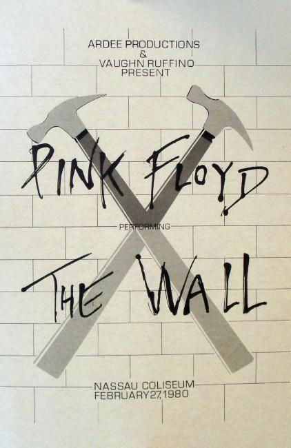 Pink Floyd Nassau Coliseum 1980 Concert The Wall Moon Animals Poster