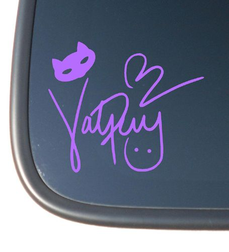 Katy Perry Signature Vinyl Car Laptop Netbook Decal Sticker