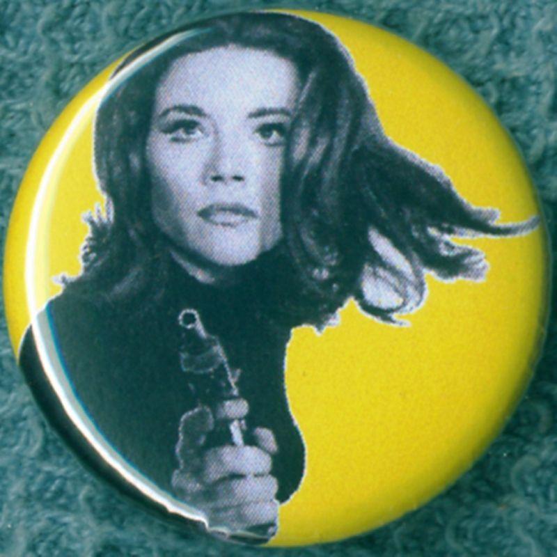 Button Badge Magnet Avengers ABC Diana Rigg 1967 Mod Sixties TV
