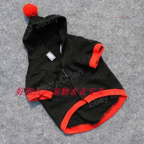 Pet Dogs Supplies Santa Paws Black Vest Clothes with Hat Costumes T