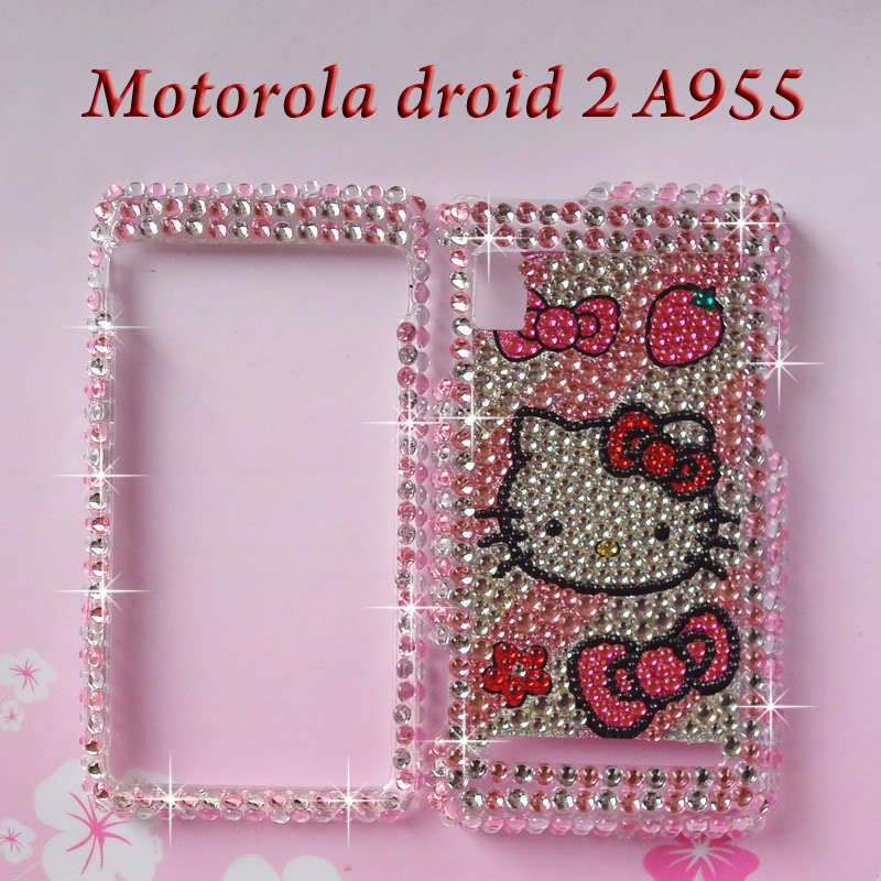 Hello Kitty Bling Diamond Hardy Case Cover Motorola Droid Global 2 II