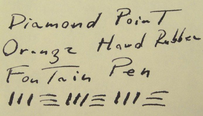 Diamond Point Orange Hard Rubber Gold Fountain Pen C 1920s Restored