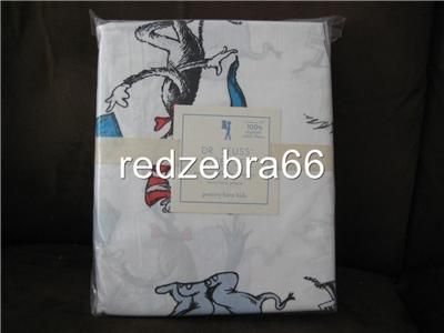 Pottery Barn Kids Dr Seuss Cat in The Hat Twin Sheet Set 3 PC New NIP
