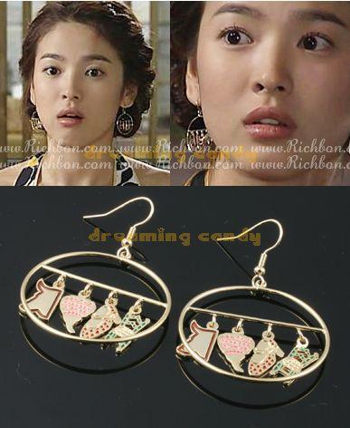 Korean Drama TV Full House Song Hye Kyo Hanger Earrings