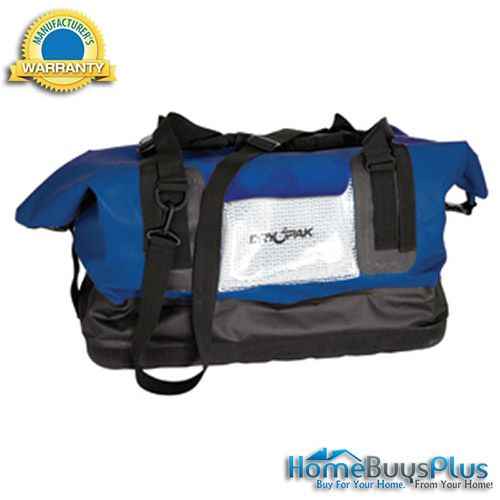 dry pak waterproof duffel bag blue large