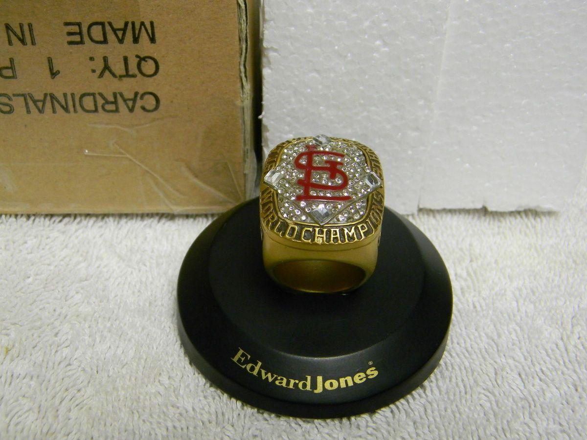 Louis Cardinals 2006 World Series Replica Ring SGA Edward Jones