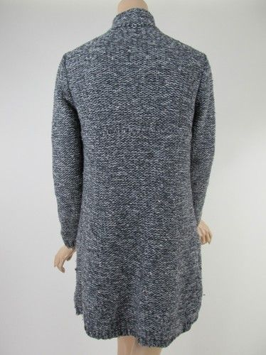 Eileen Fisher Gray Wool Cashmere Cardigan Sweater Coat Size s Small