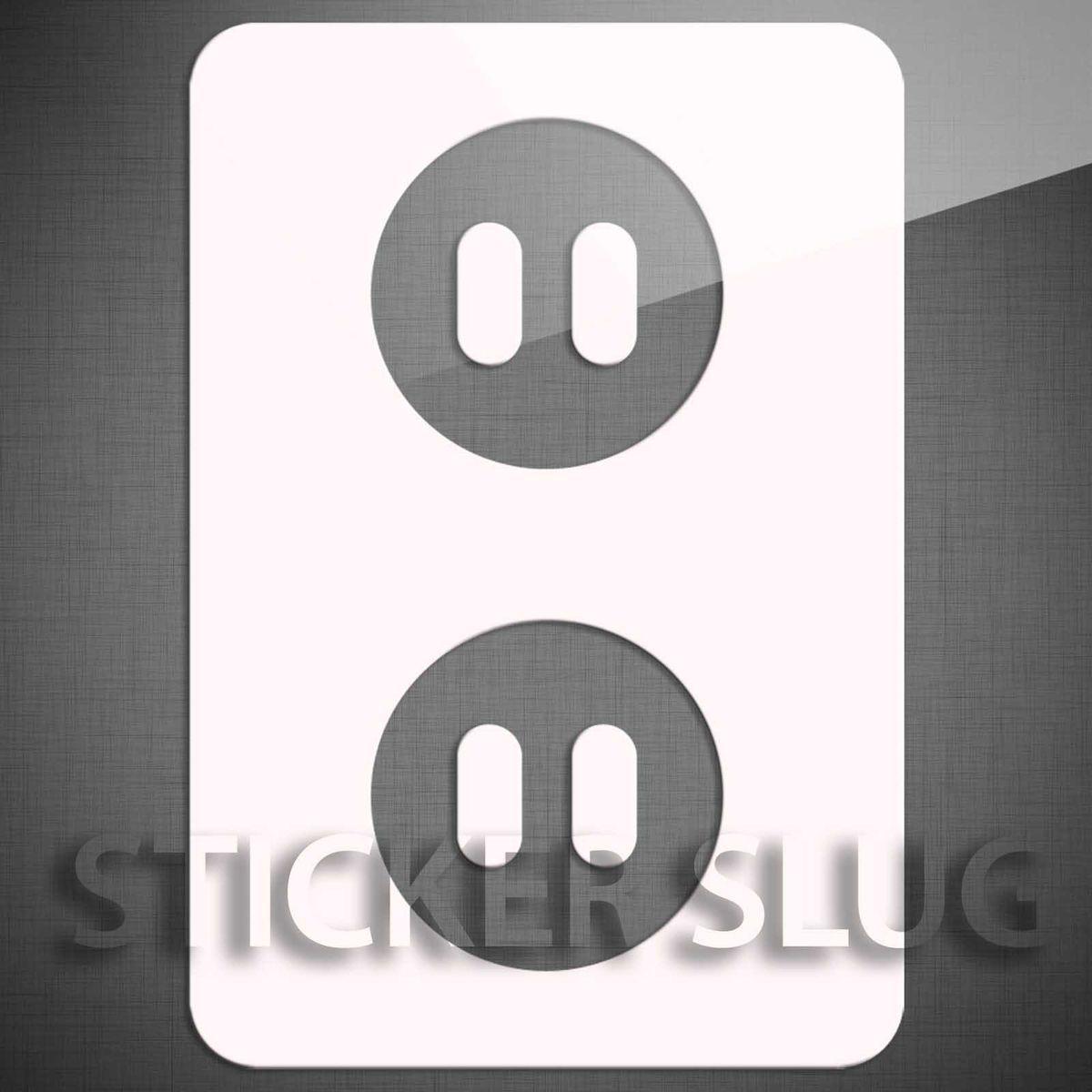 Electrical Outlet Plug Decal Sticker Vinyl Custom Wall Art Window Car