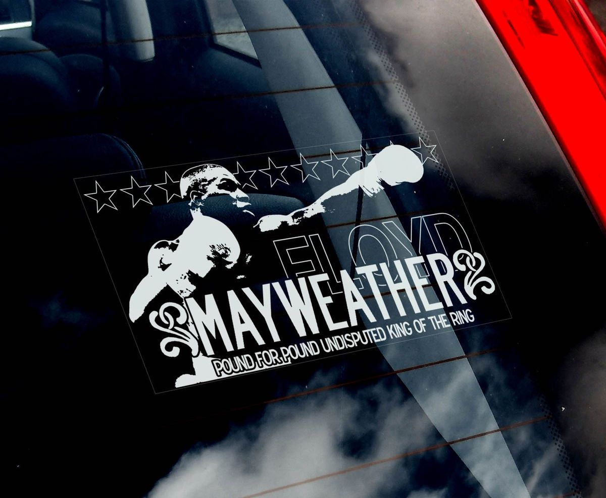 Floyd Mayweather Jr Car Window Sticker WBC Welterweight Boxing