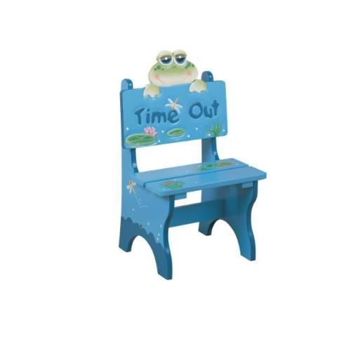 New Childrens Kids Wooden Time Out Chair   Frog