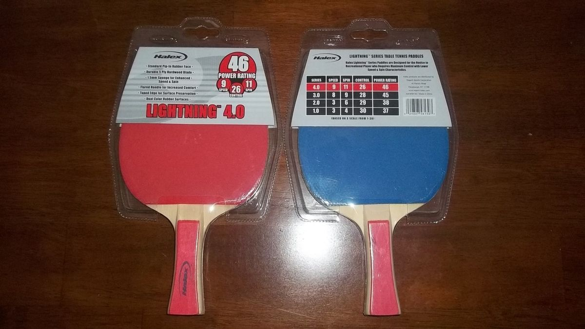 Sports Halex Lightning 4 0 Table Tennis Ping Pong Paddle 46 Power