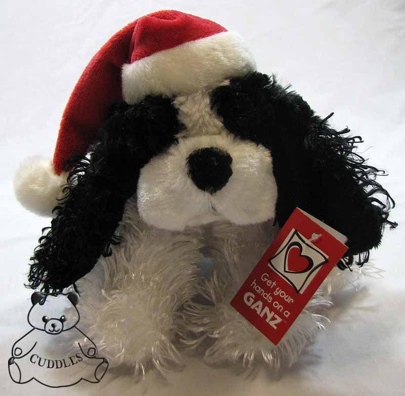 Plush Toy Dog Black And White