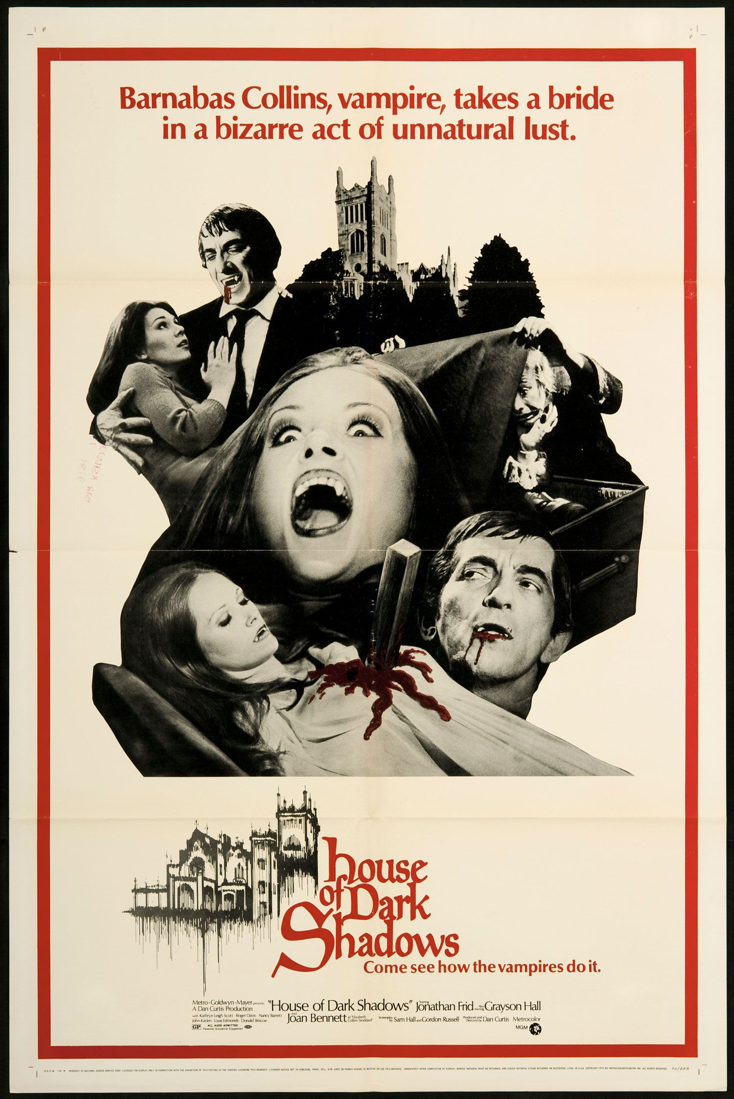 House of Dark Shadows 1970 Original U s One Sheet Movie Poster