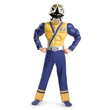 Power Rangers Samurai Super Samurai Gold Ranger Muscle Costume Sz 10