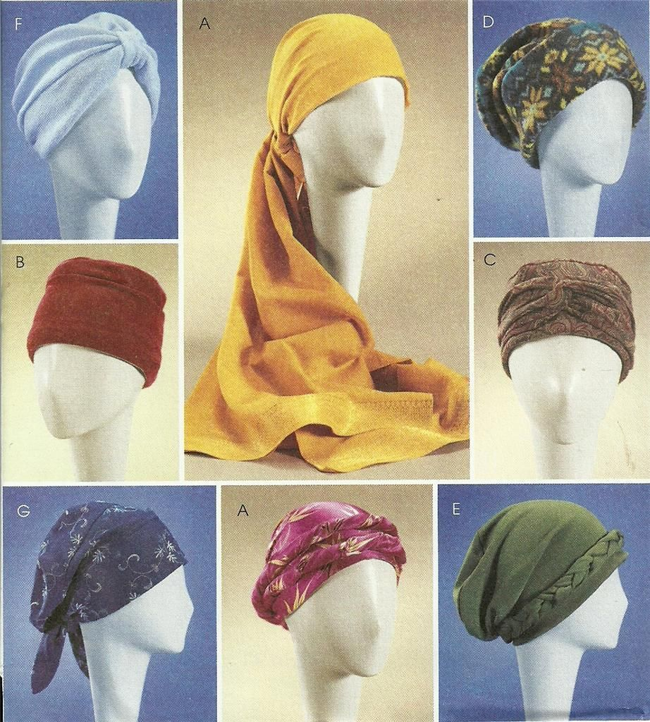 Mccalls Sewing Pattern 4116 Ladies Turbans Headwrap Chemo Hats Caps 7