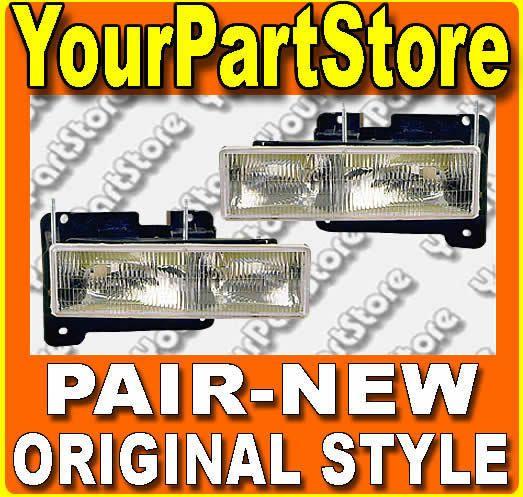 Chevy GMC Truck 90 91 92 93 94 95 96 97 98 Headlamps