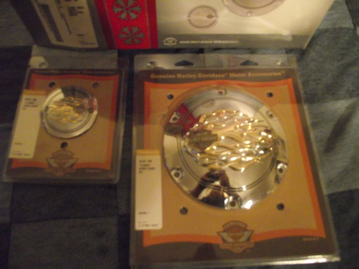 Genuine Harley Davidson Flamed XL Timer Derby Covers CLEARANCE Sale