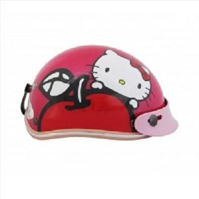Hello Kitty Kids Motor Bike Helmet Harley Apple Pink, White, Hotpink